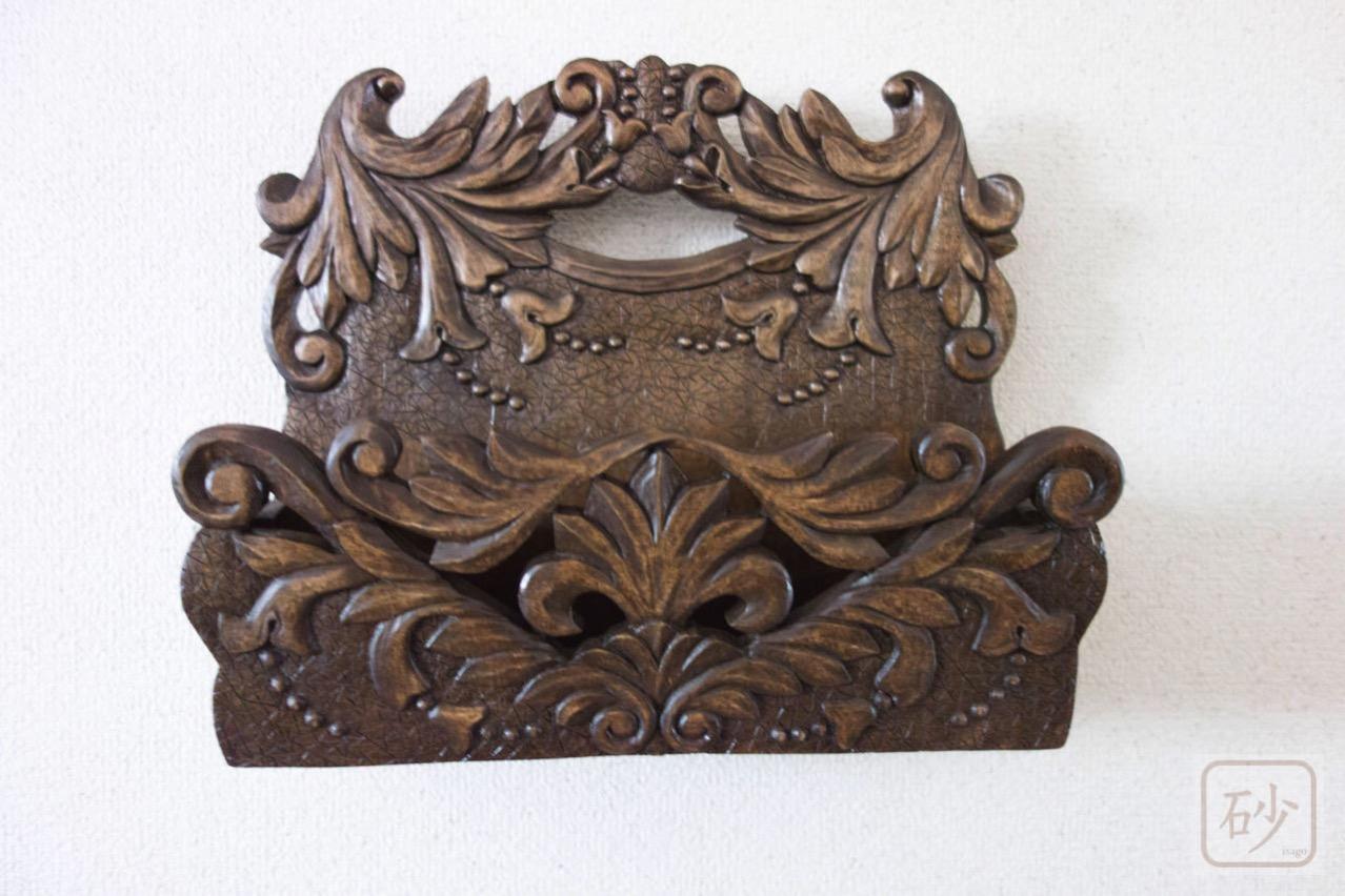 木彫りのレターラック