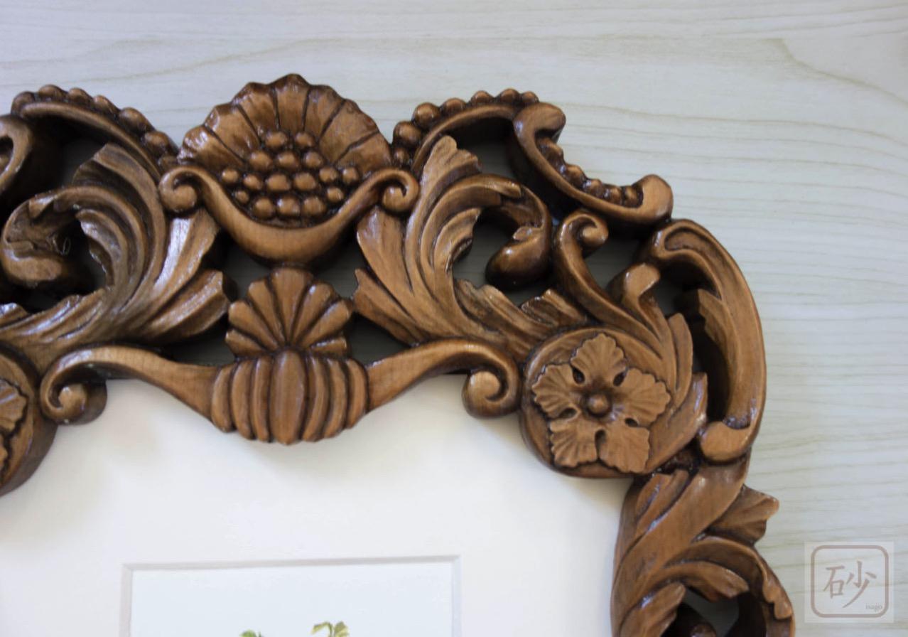 木彫り額縁