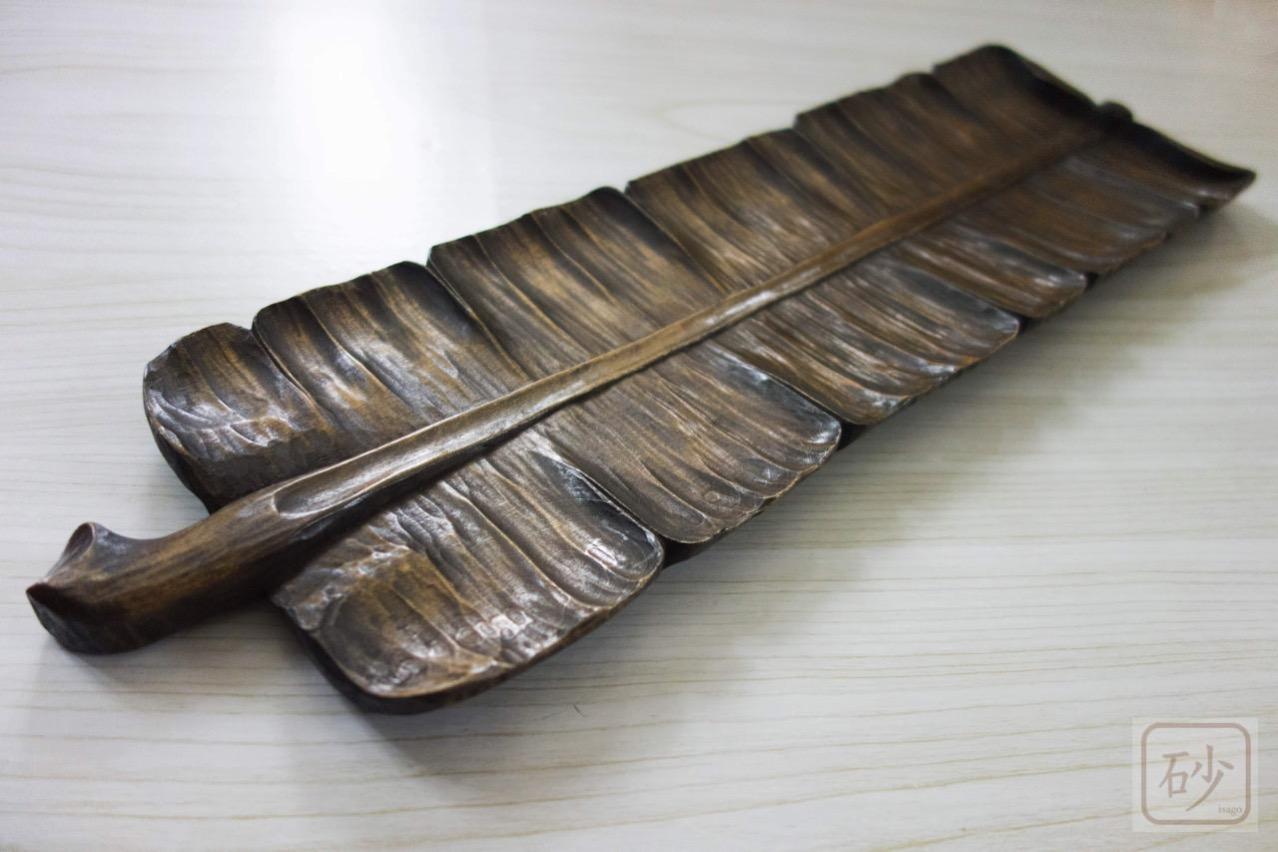 木彫りの長盆 基礎作品