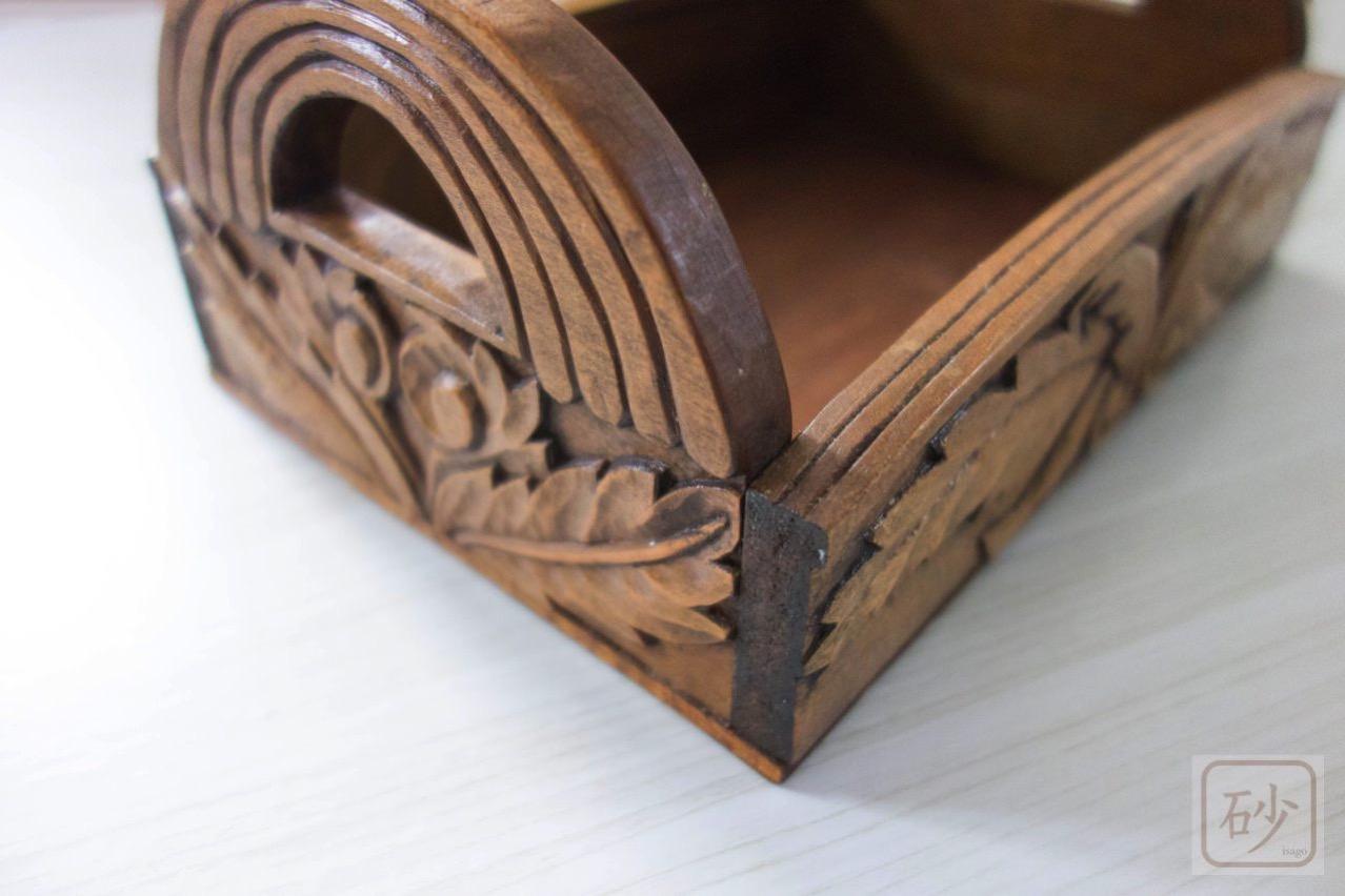 木彫りの調味料入れ 基礎作品