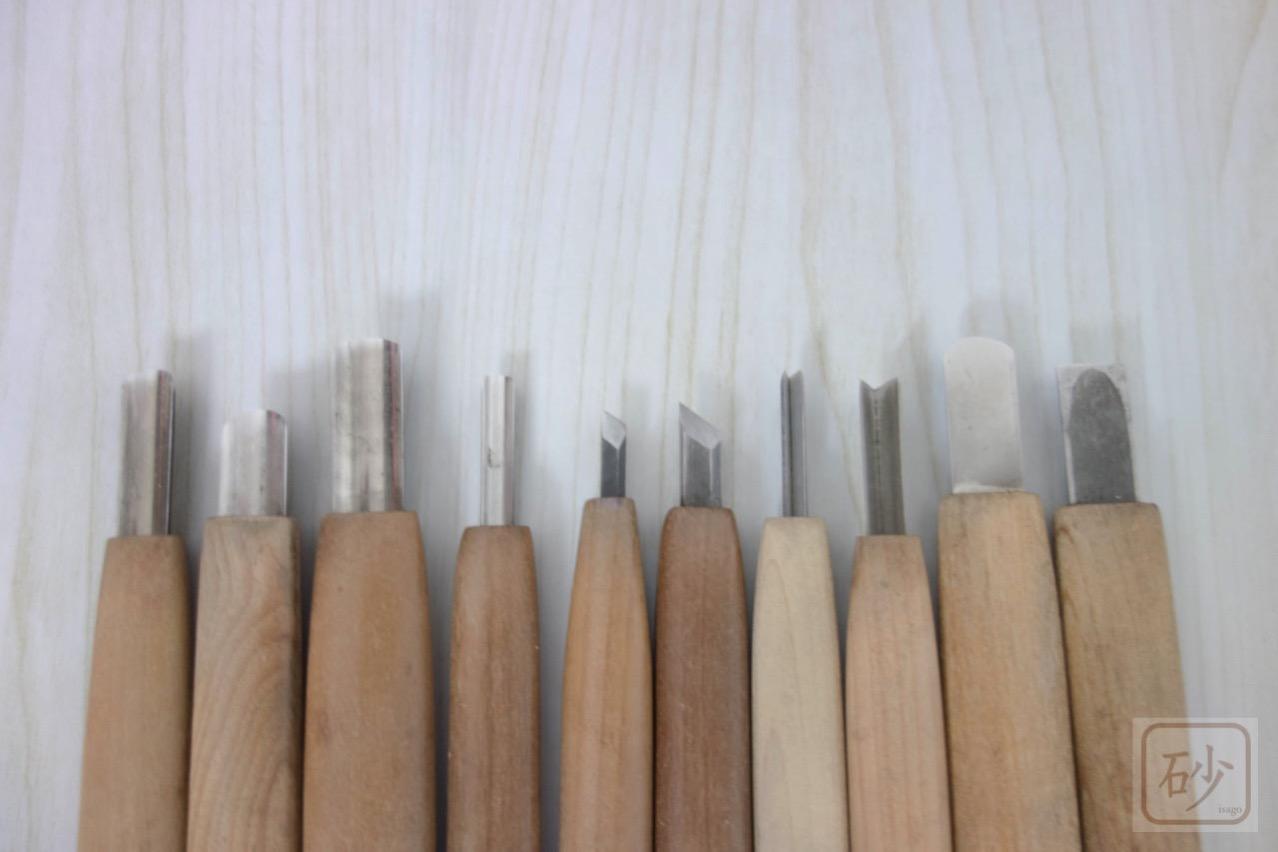 よく使う木彫り彫刻刀