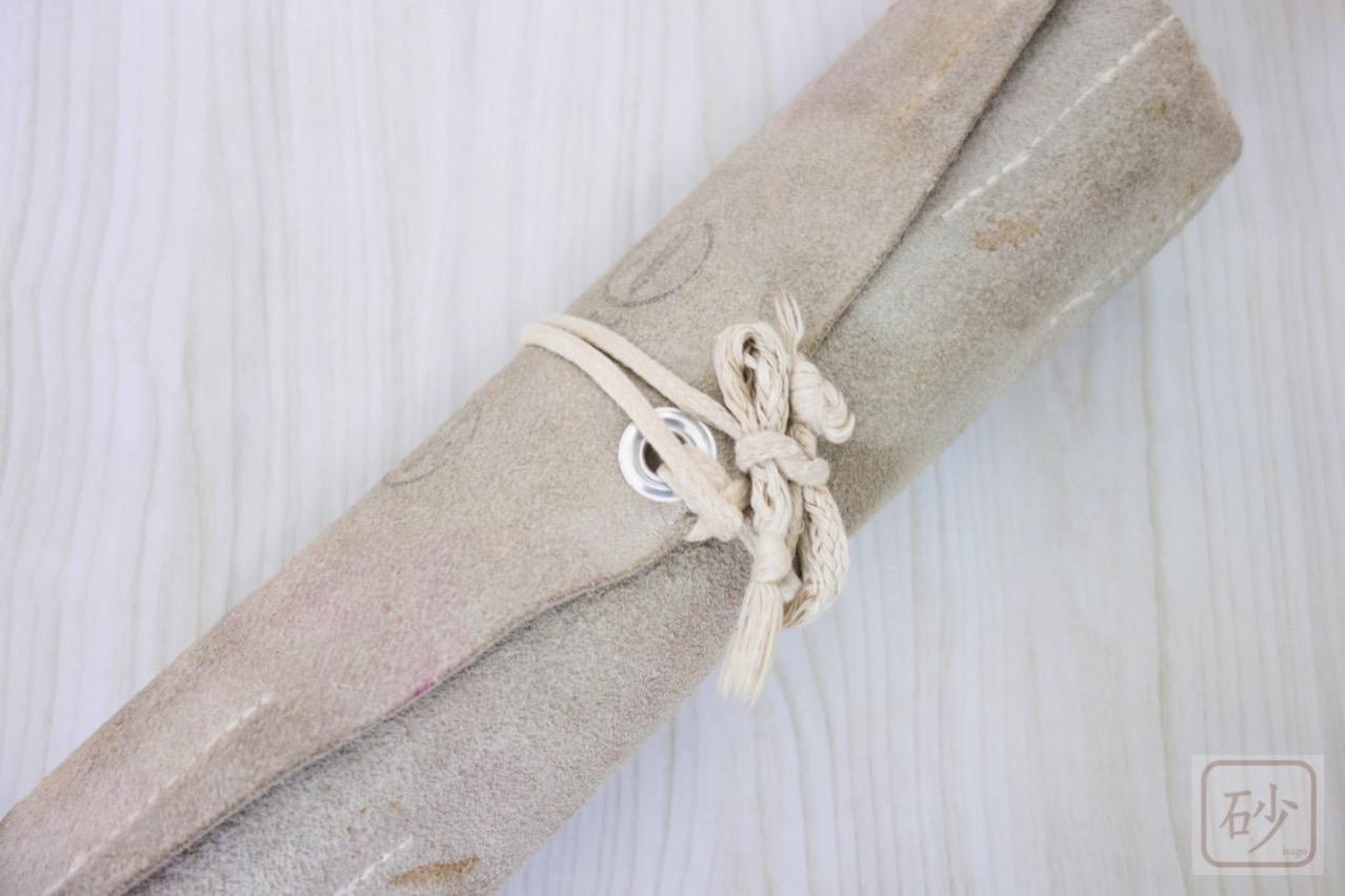 彫刻刀と革袋