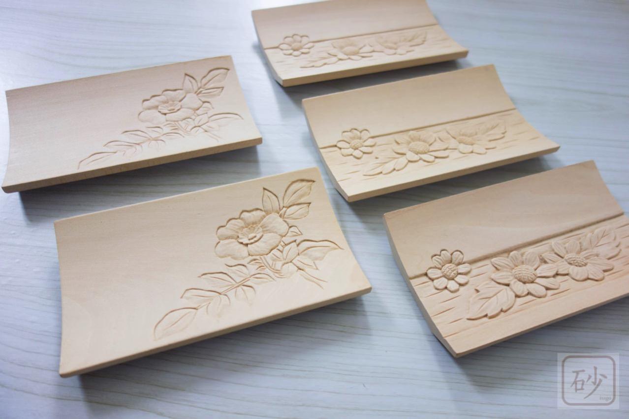木彫りのおしぼり台 制作中