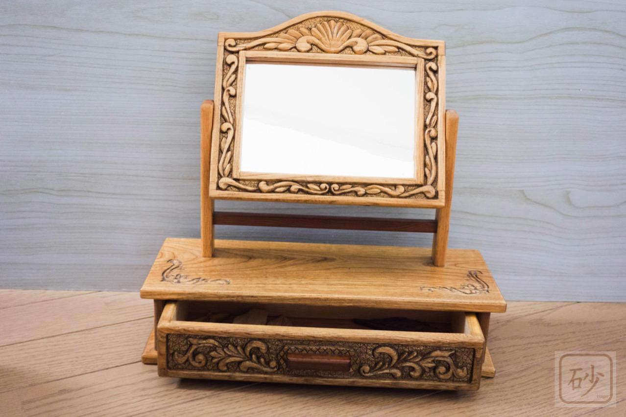 木彫り姫鏡台