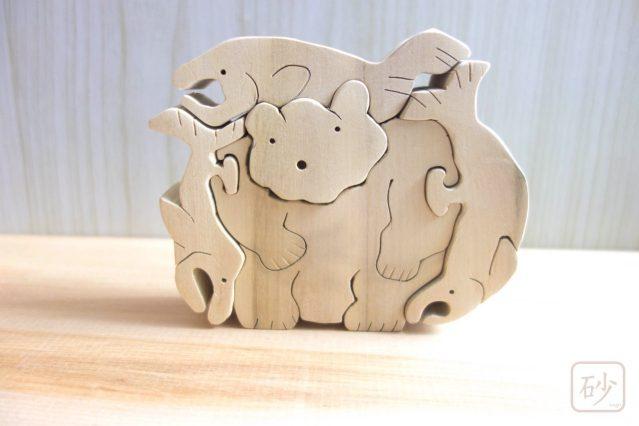 木彫りの熊を作ってみた【組み木】