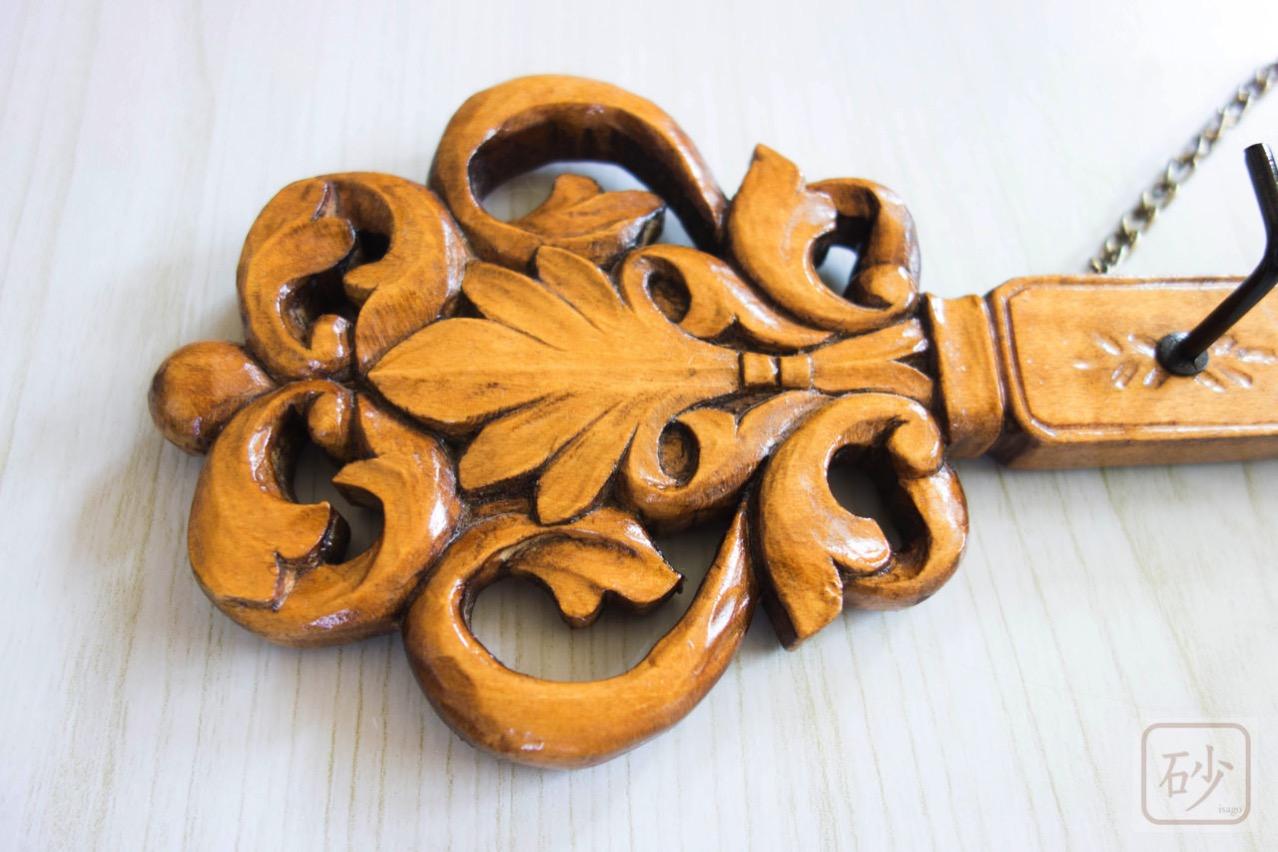 木彫りのキーフック