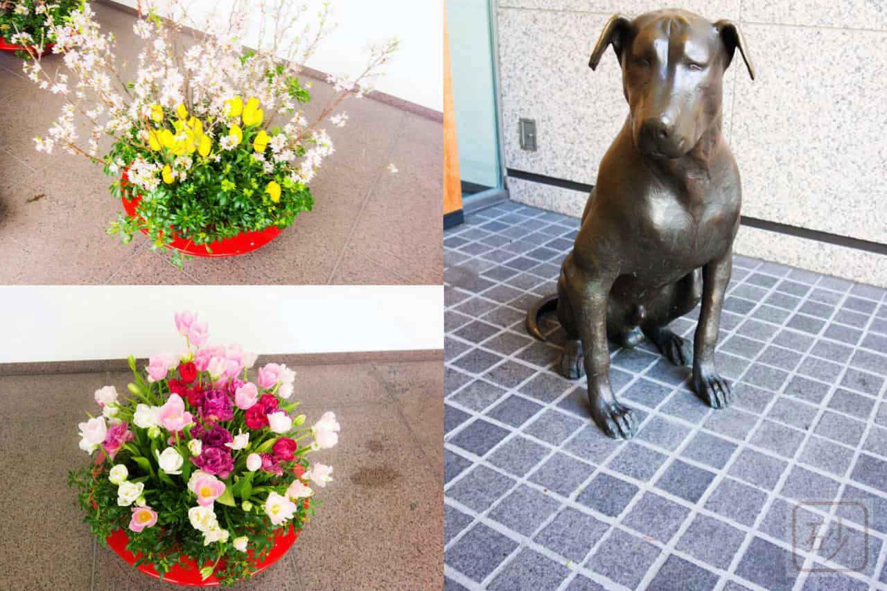 六花亭札幌本店の犬の置物