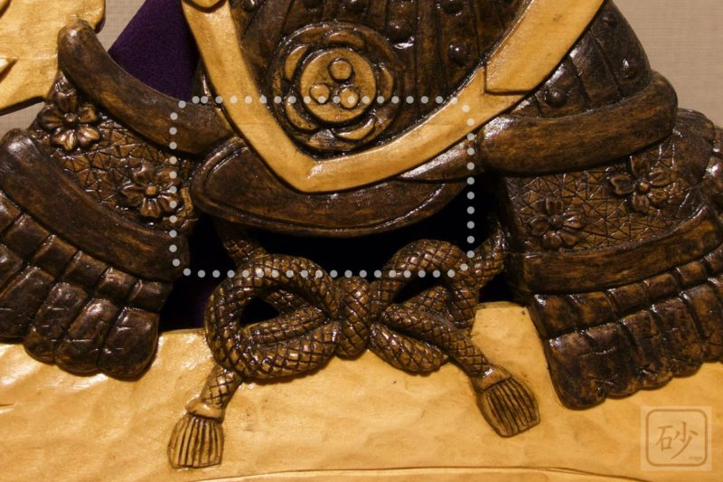 木彫りの兜