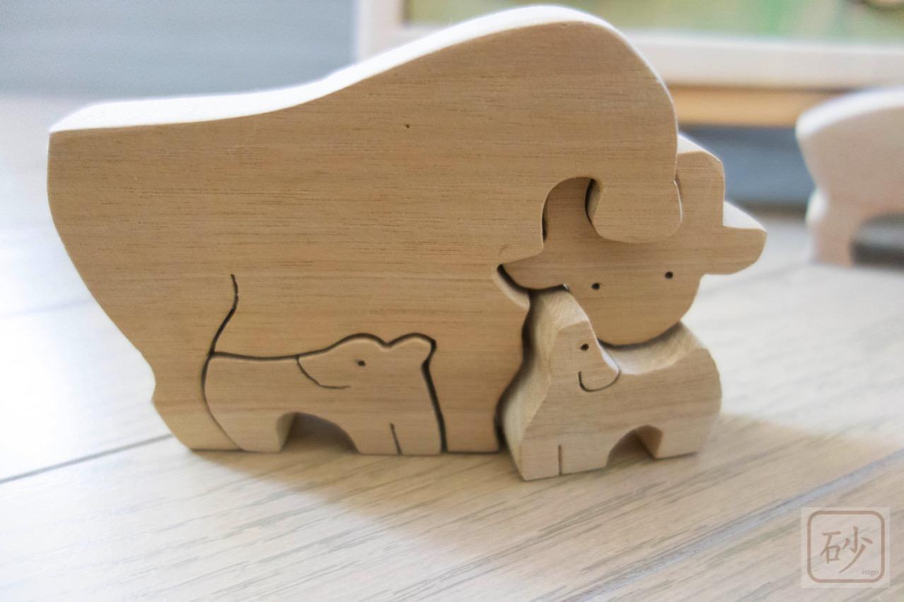 牛の組み木
