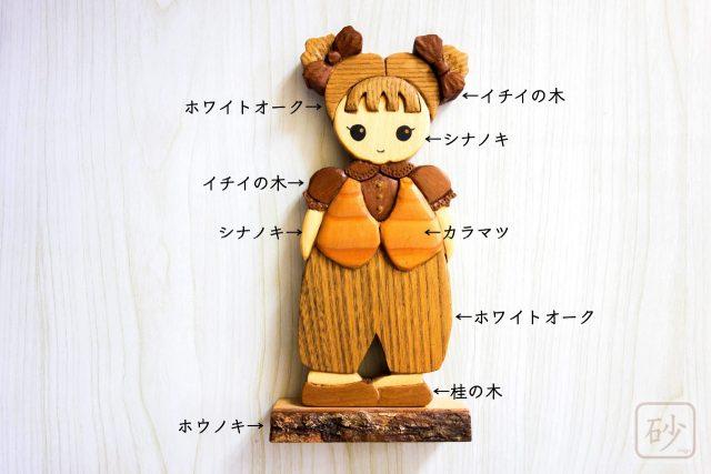 木彫りの飾り