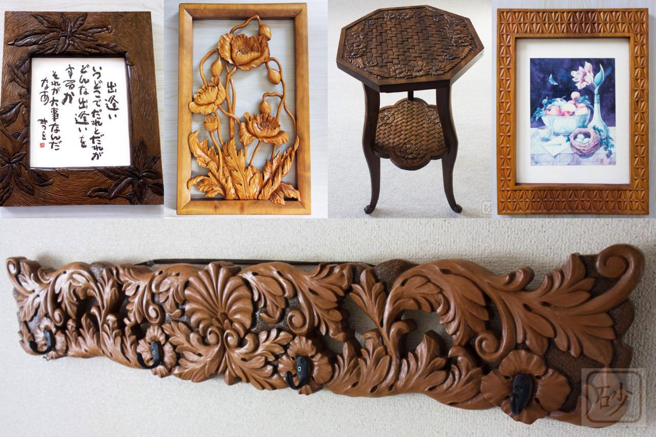 桂の木彫作品