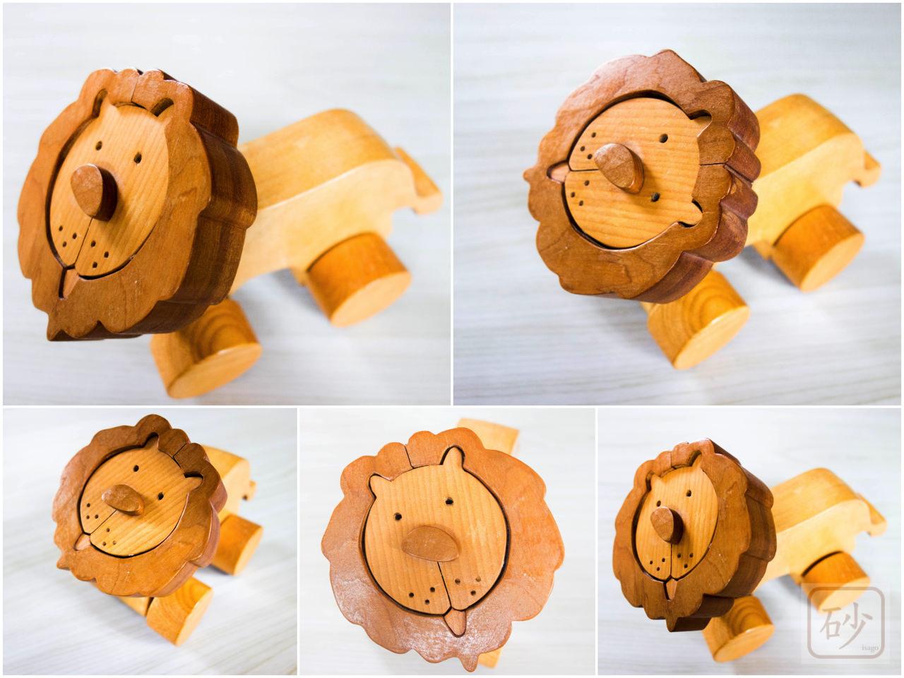 ライオンの木のおもちゃ