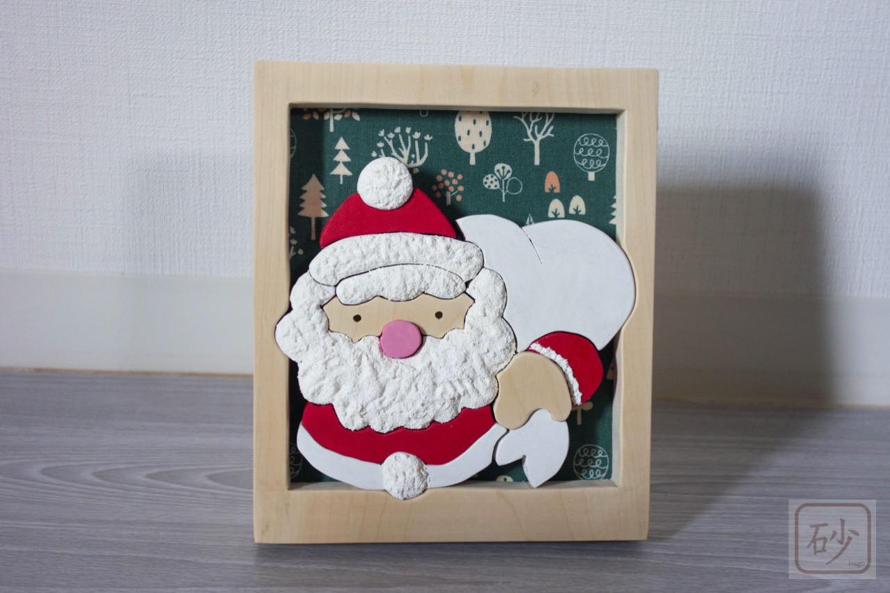 サンタクロース組み木絵