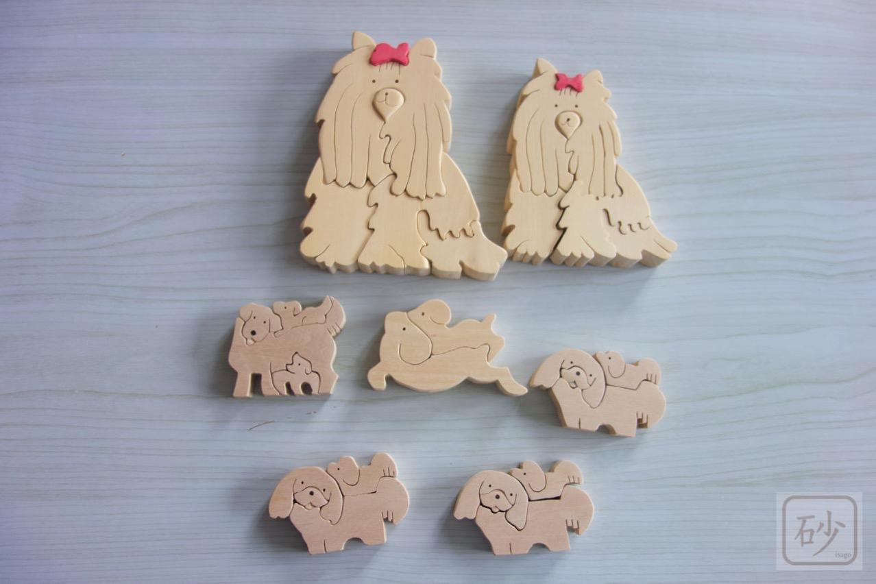 組み木の犬