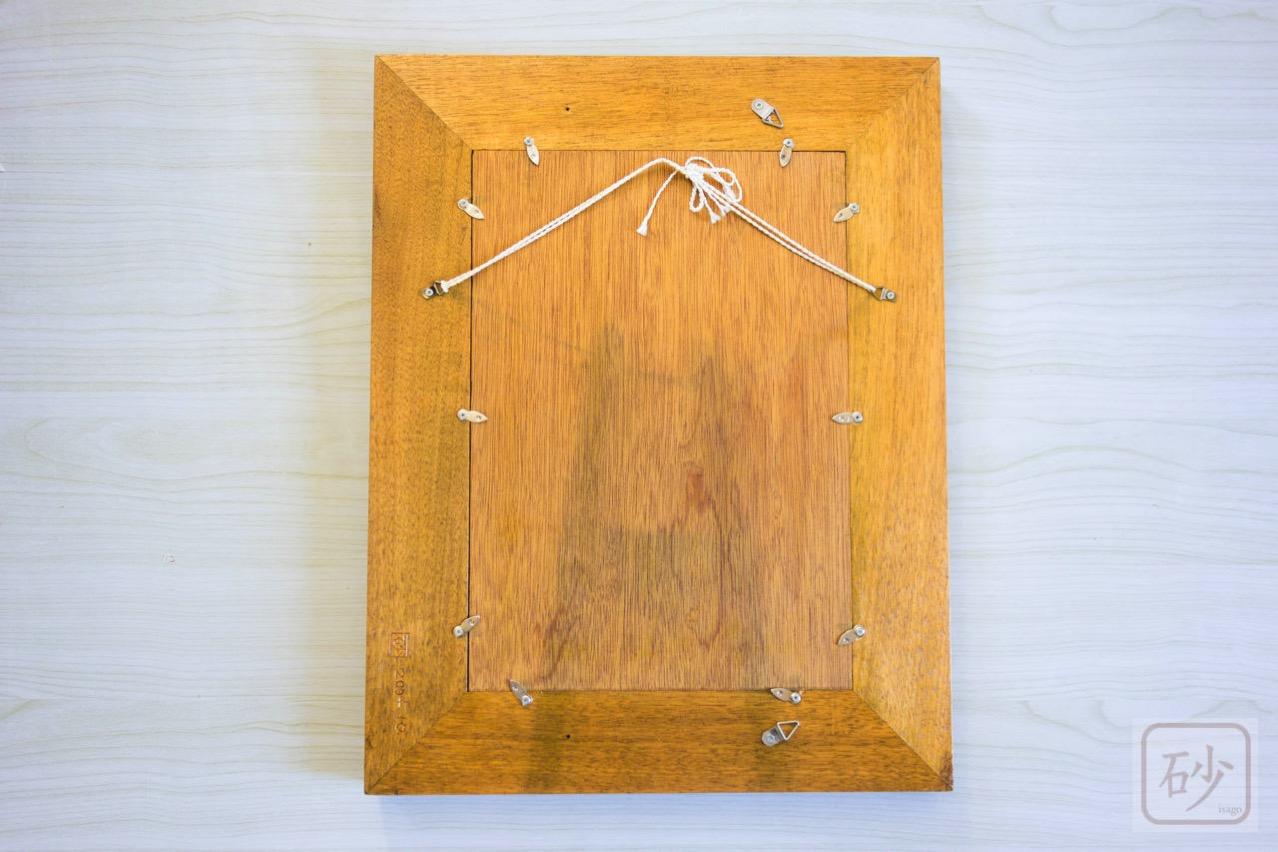 木彫りの大きな額縁 アカンサス