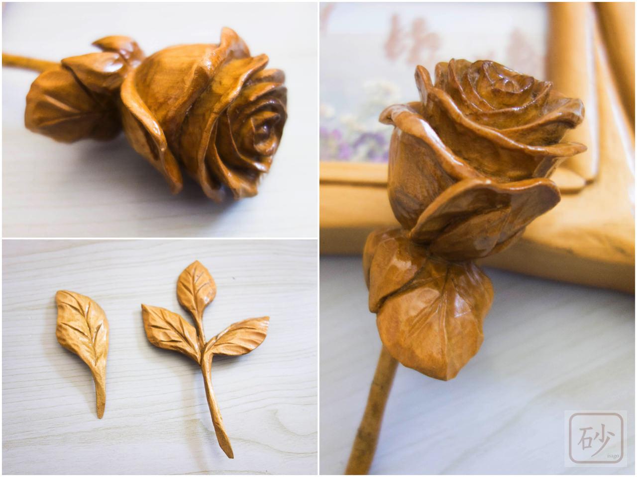 木彫りのパノラマ用フォトフレーム