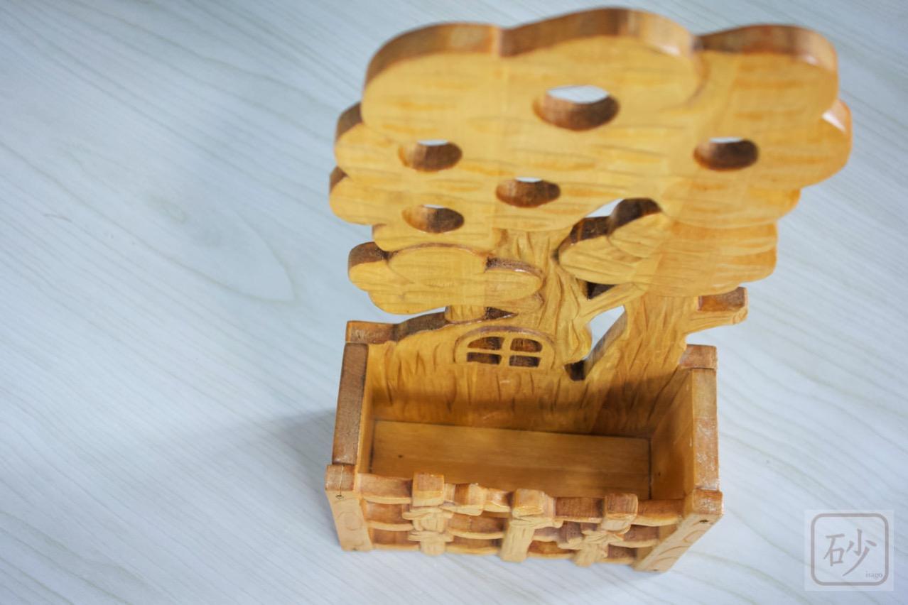 木彫りのレターラック ツリーハウス