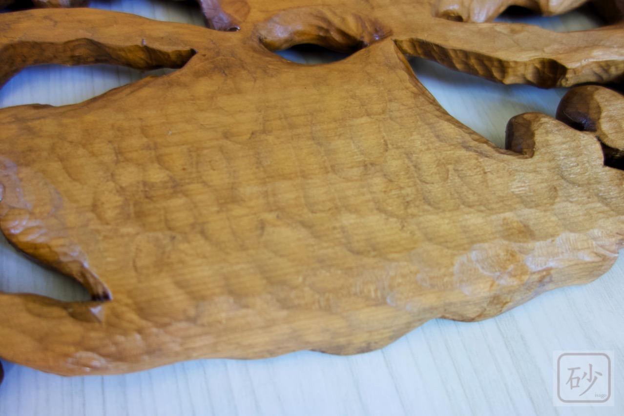 木彫りの菓子器 どんぐり