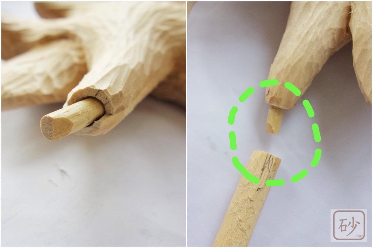 木彫りのゆり