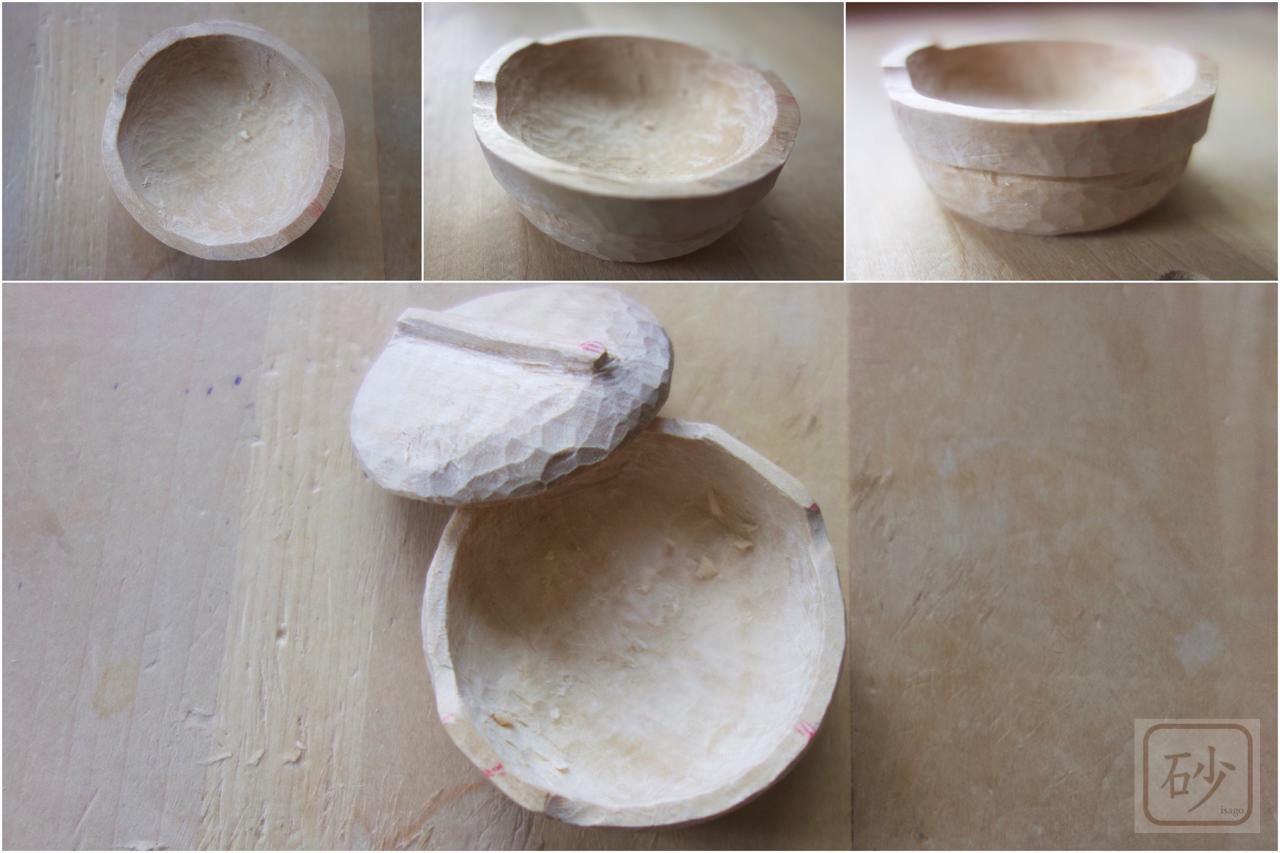 木彫りのひとつ鍋