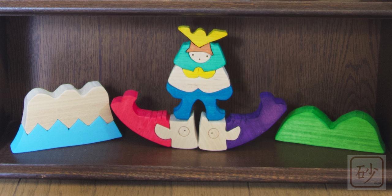 五月人形 富士山の上の兜童子