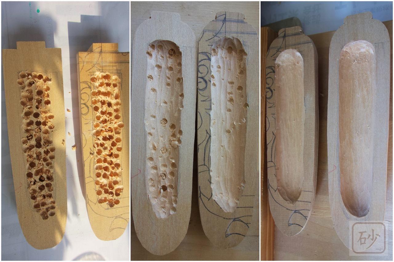 木彫りのとうきびモナカ
