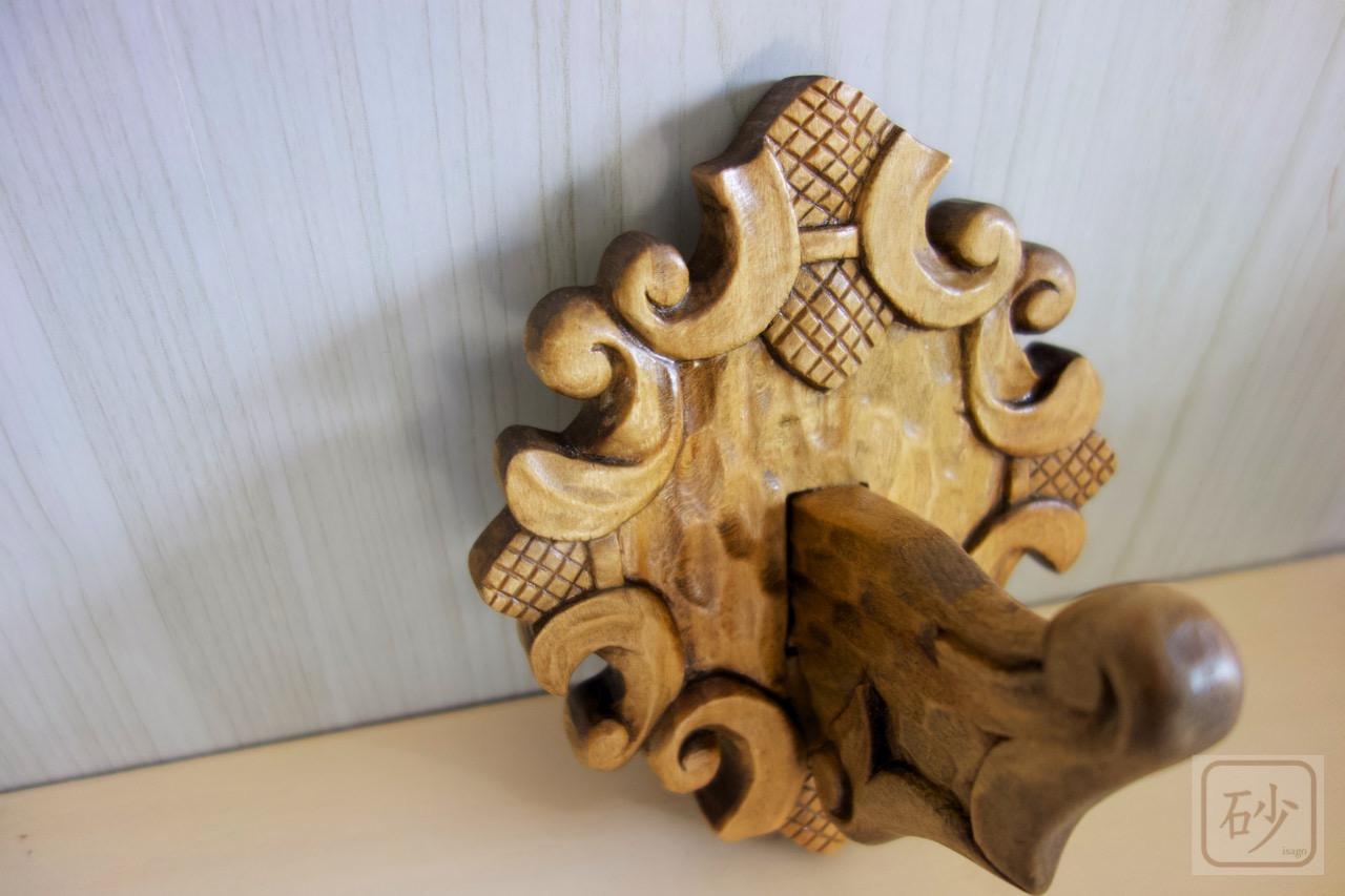 木彫りの吊り花器