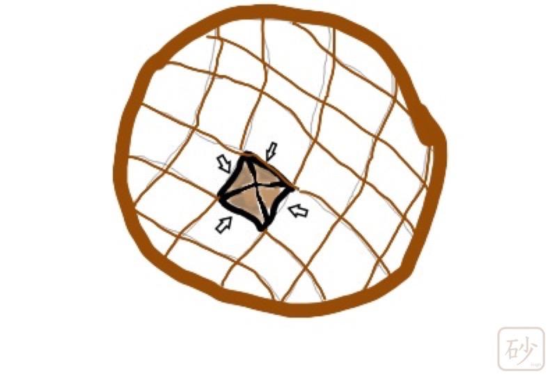 木彫りの六角鍋敷き ひまわり