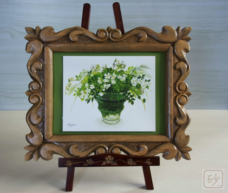 Wood carving frame acanthus and easel02