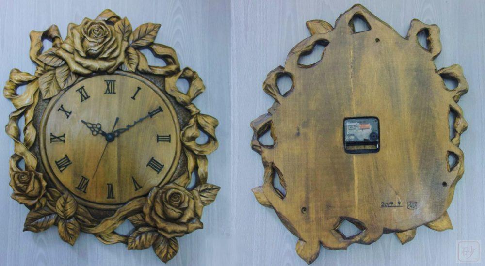 バラの壁掛け時計