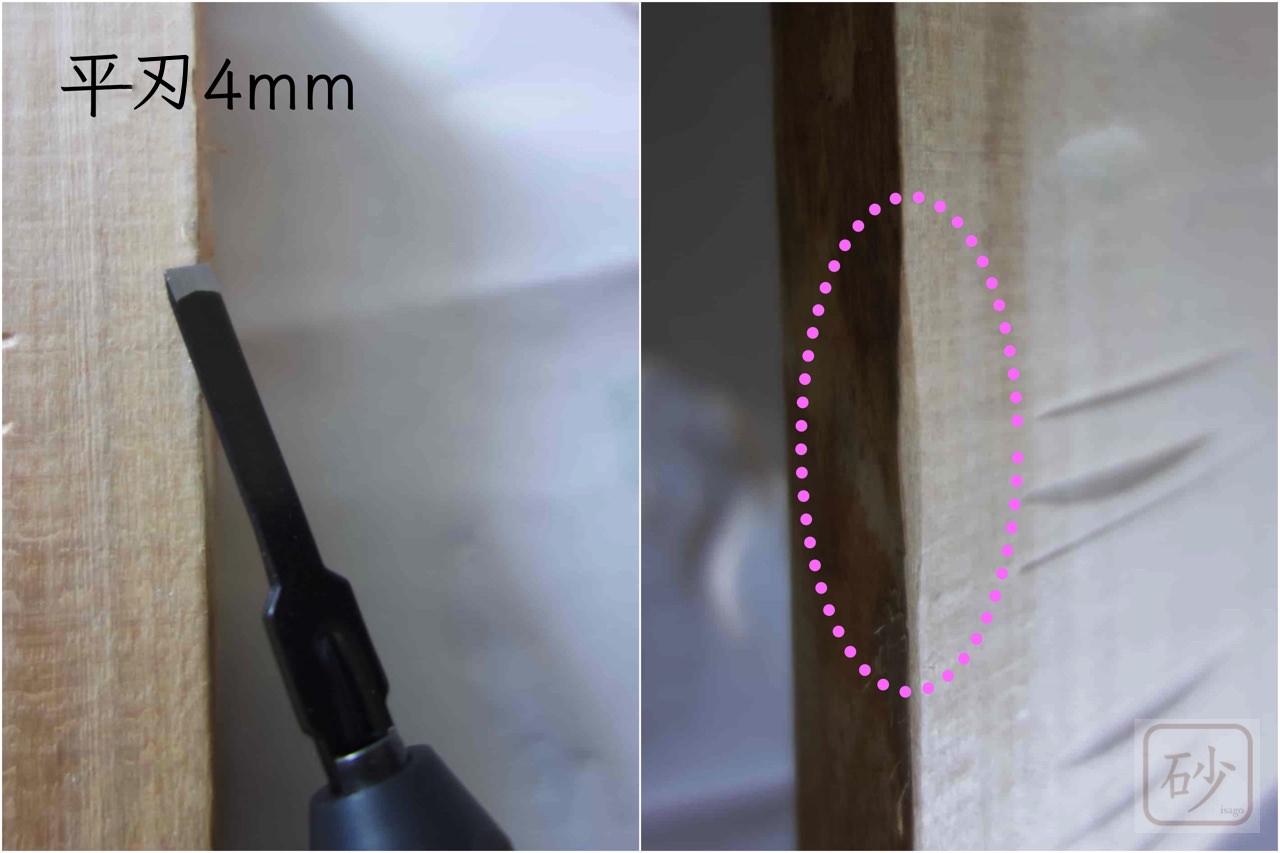 電動彫刻刀平刃4mm
