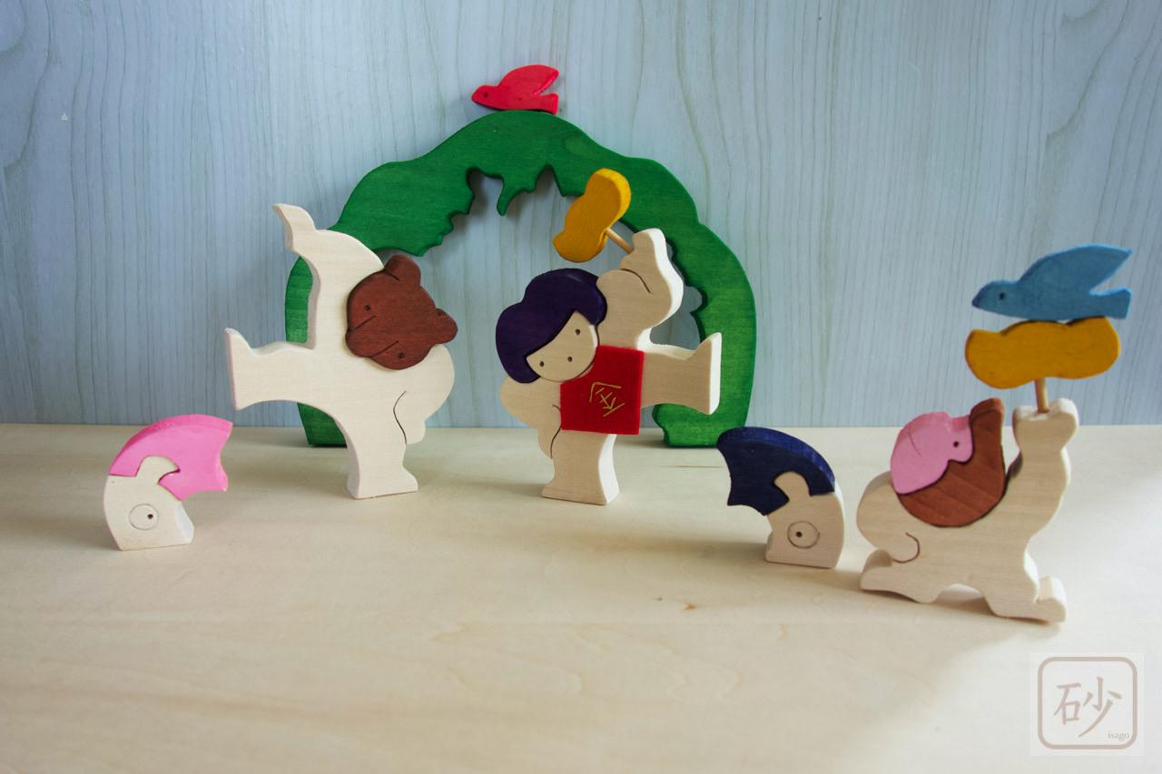 木彫りの金太郎を制作しました【五月人形 組み木】