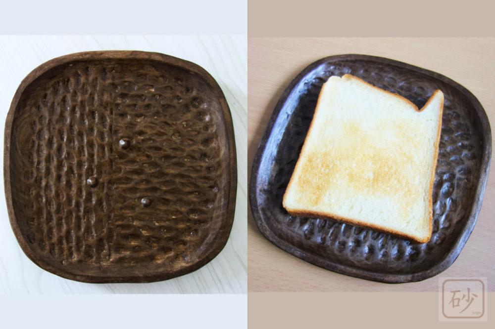 木のお皿を作りました トーストをサクサクに保つ!