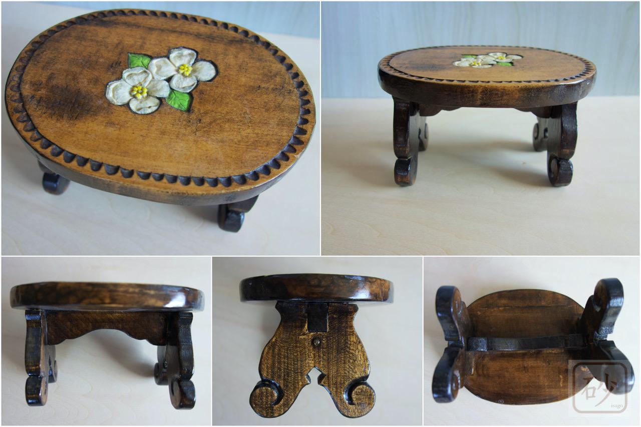 木彫りミニュチュアテーブル