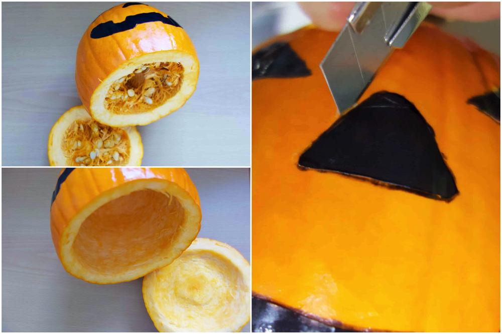 ハロウィンカボチャ作り方