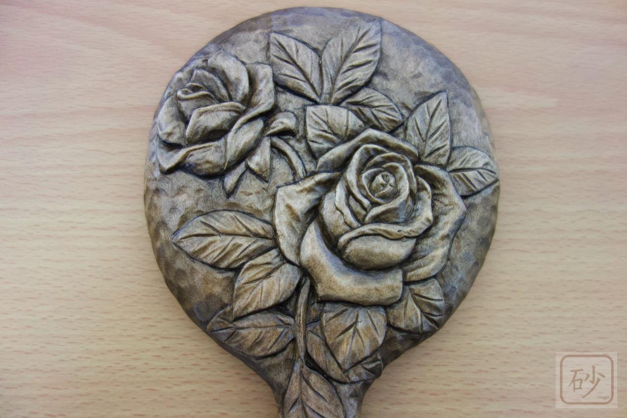 木彫りバラ