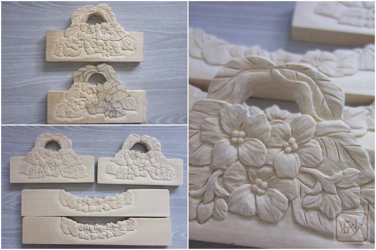 セントポーリア木彫り