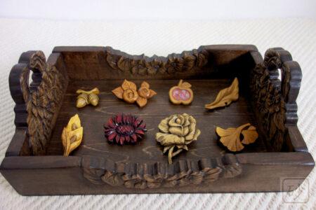 木彫りトレー