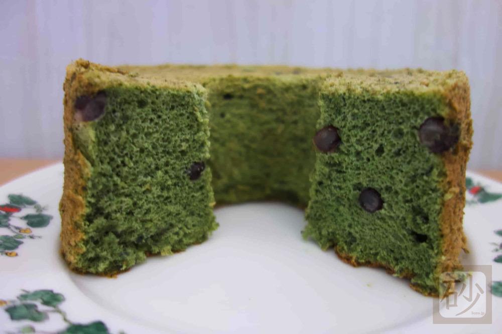 六花亭シフォンケーキよもぎを食べる