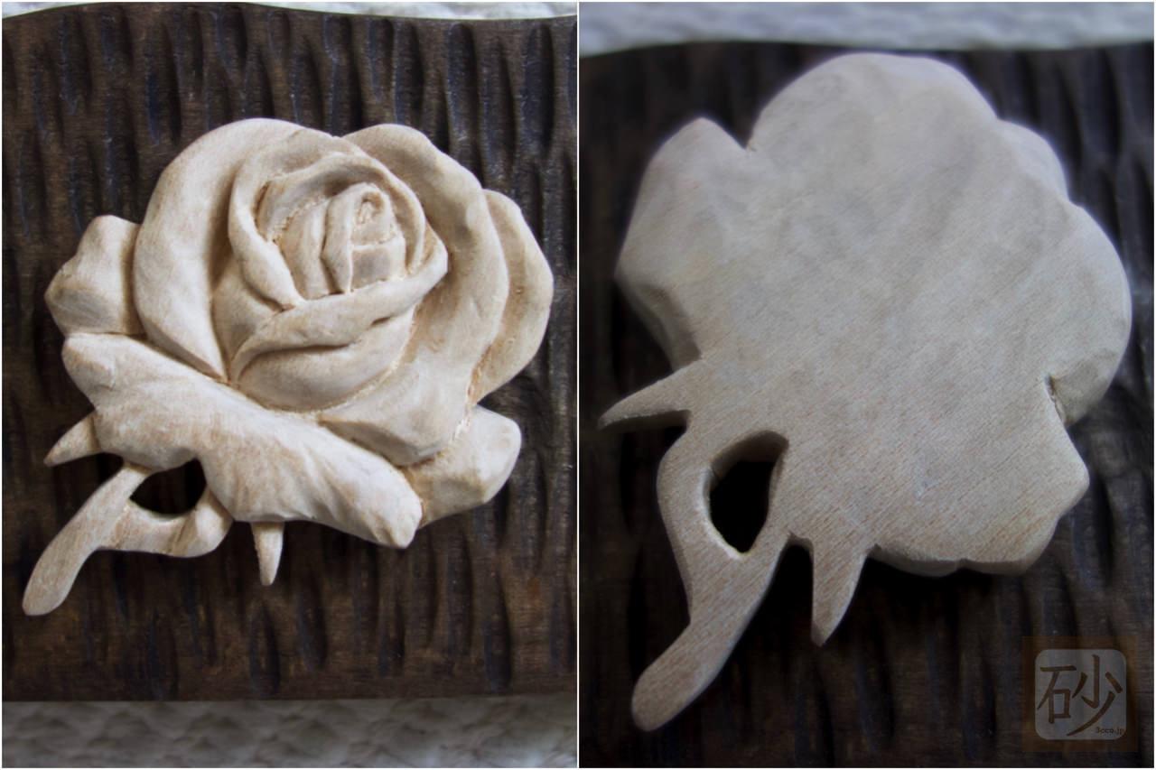 バラのブローチ手作り