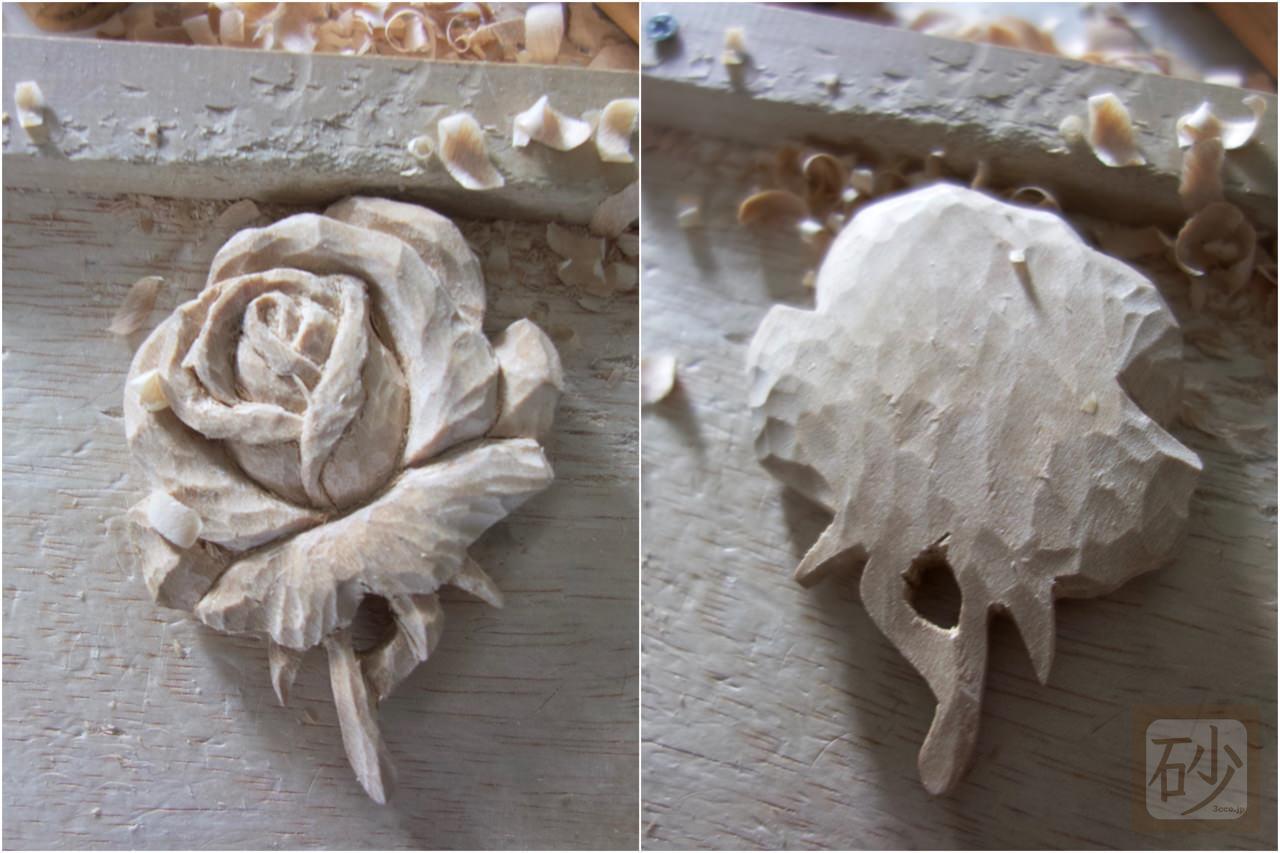 薔薇のブローチ手作り