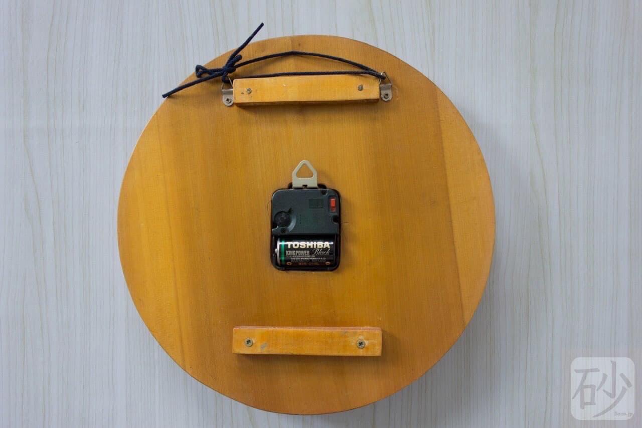 木彫りバラ時計
