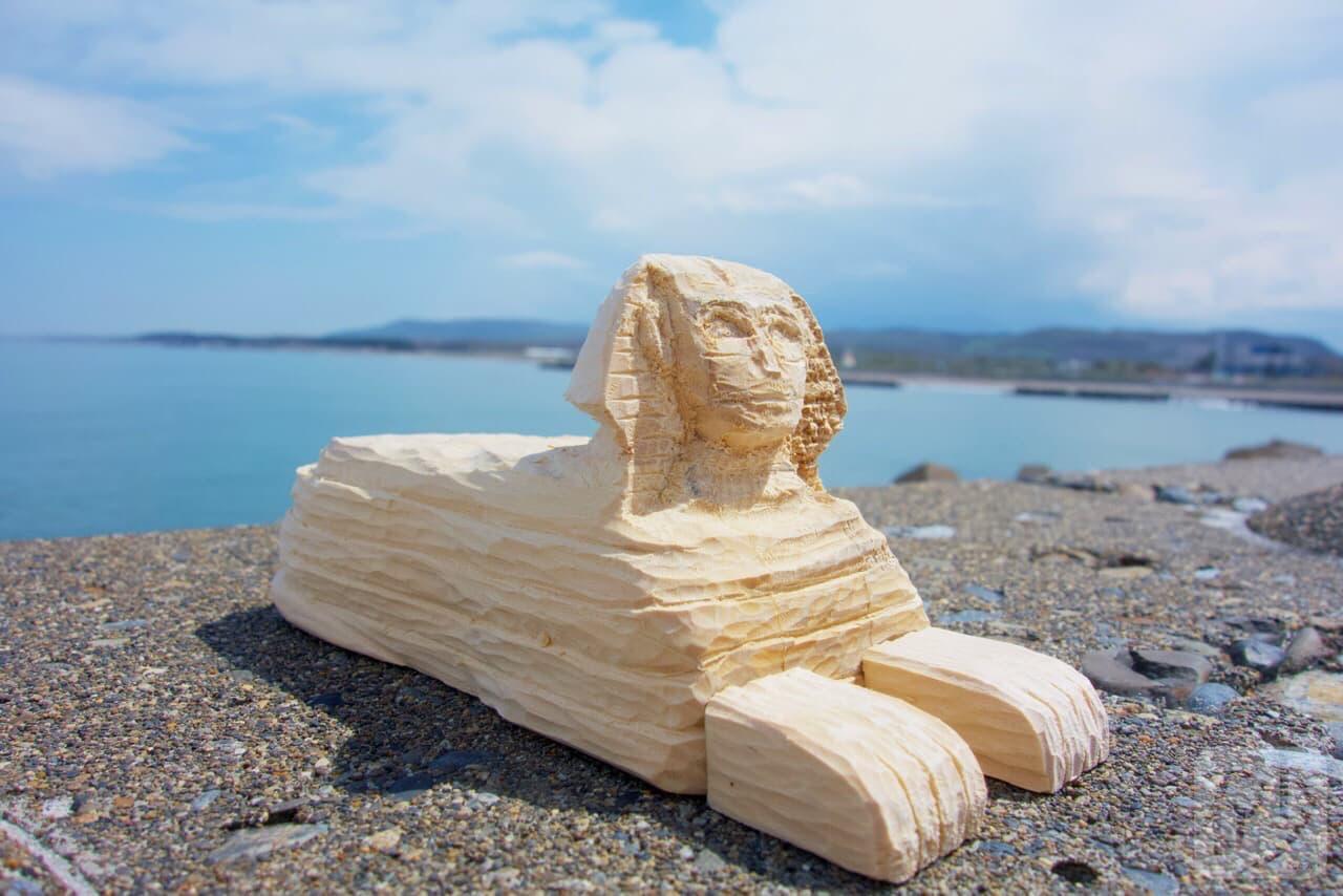 木製スフィンクス