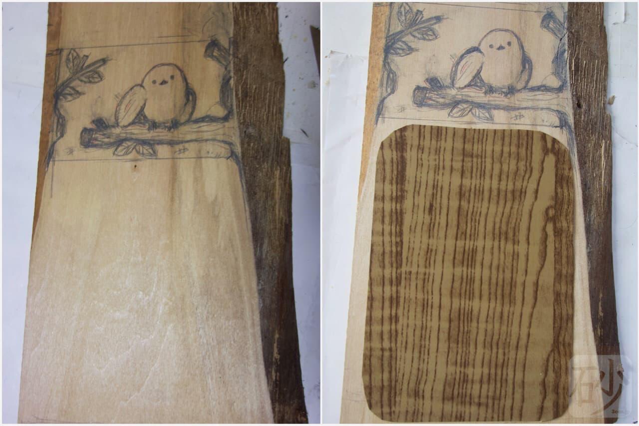 木彫りシマエナガ