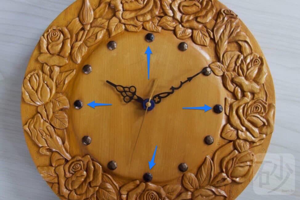 木彫り時計