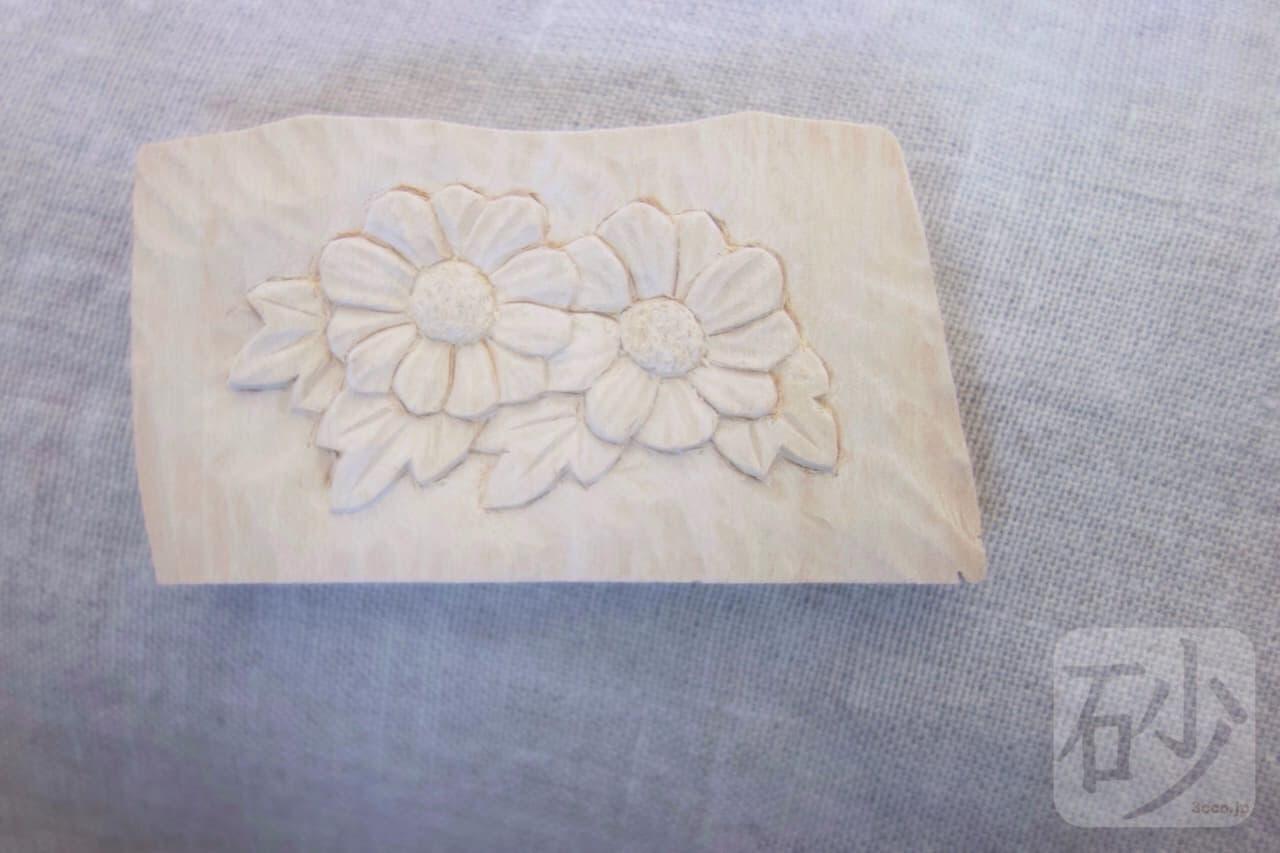 木彫りの花