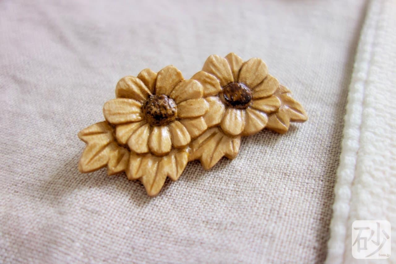 木彫りの花を制作する【動画あり】