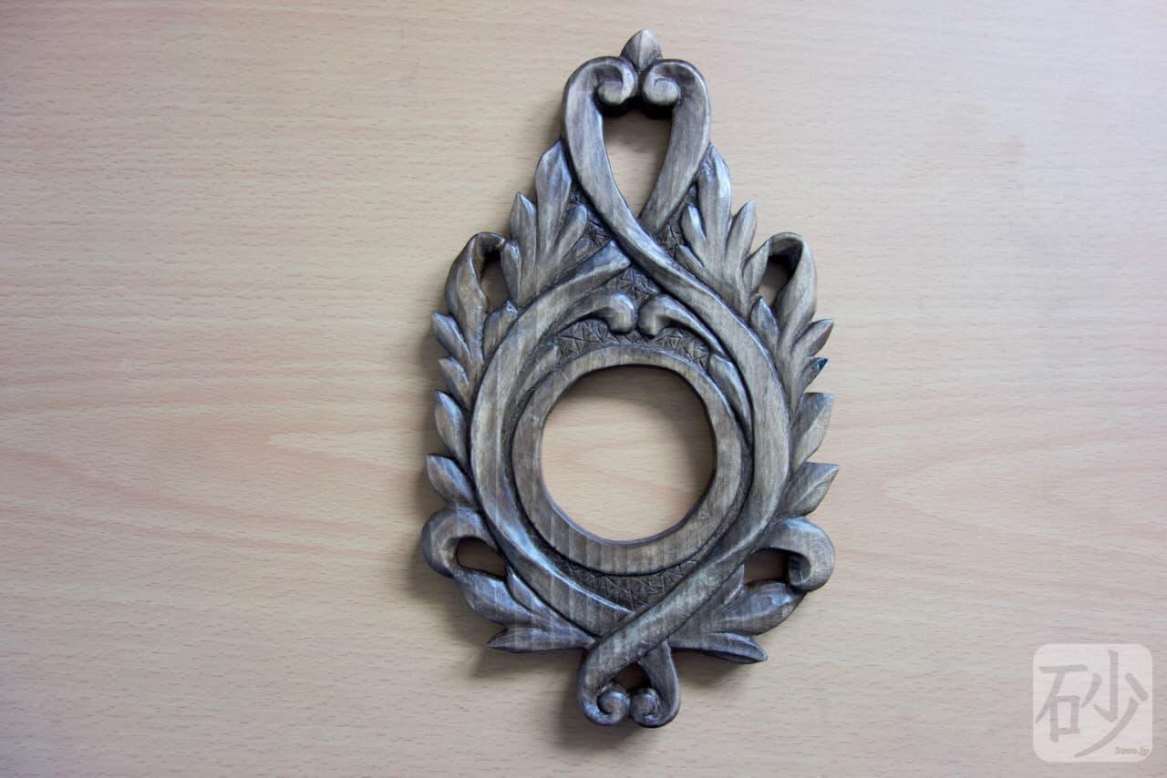 木彫りアカンサス