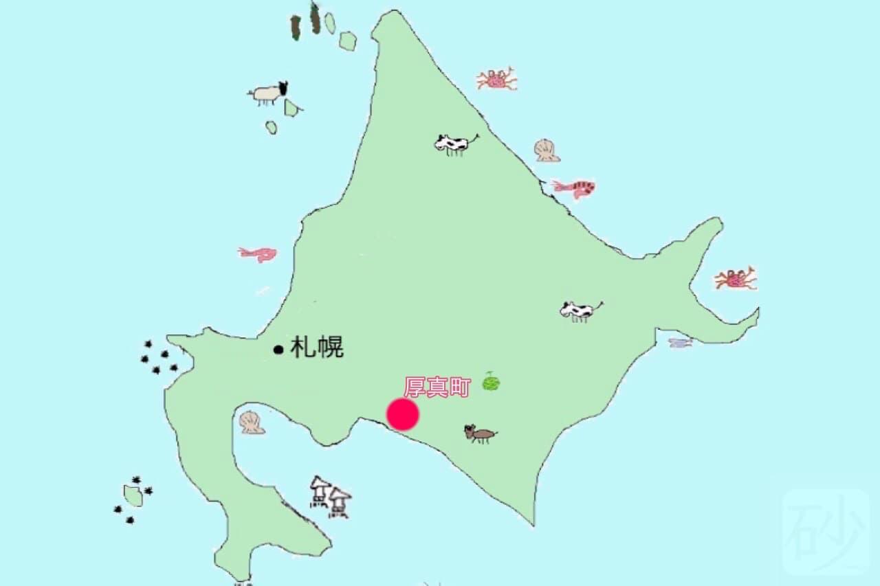 厚真町地図