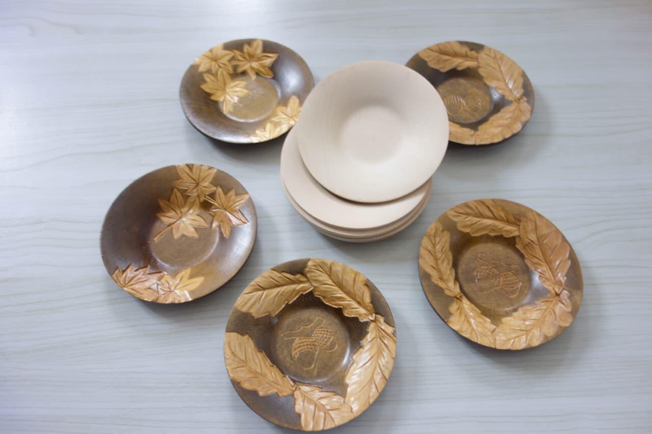 木彫り茶托